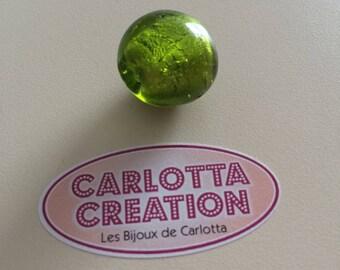 Green Murano glass bead