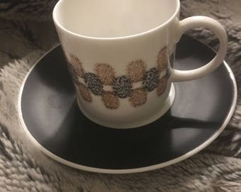 Susie Cooper Bone China Coffee Cup and Saucer