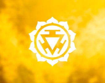 VINYL DECAL | STICKER {Solar Plexus Chakra} Meditation Decal | Car Decal | Laptop Decal | Tablet Decal | Phone Decal | Water Bottle Decal