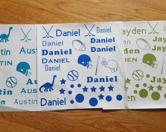 Boys Name Labels