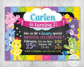 Care Bears Birthday Invitation - Printable Digital File