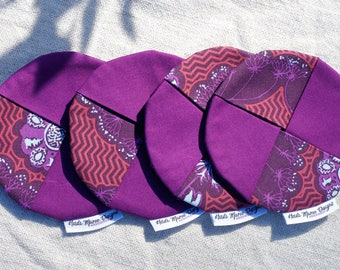 All the purple things fabric wine coaster