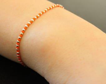 Bracelet miyuki beads and silver beads