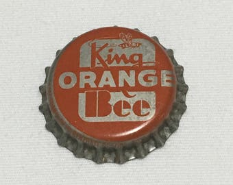 King Bee Orange Crown/Bottle Cap - Cork Composition - Unused