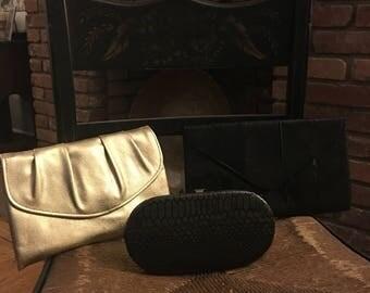 3 Vintage clutch purses