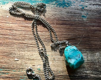 Vintage Turquoise Nugget Necklace 1960s