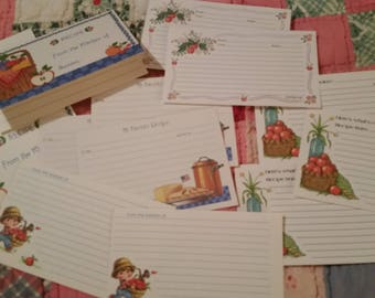 Vintage Recipe Cards Collection ~ 70's Current & Litte Darlin's Apple Theme 12 Piece Set ~ Cooking Journals ~ Recipe Box