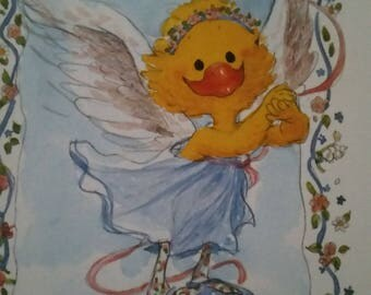 Vintage  Greeting Card ~ Suzy Zoo Card  - Suzy Ducken - Guardian Angel