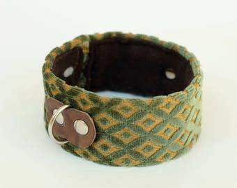 Dog collar/dog collar Olive velvet
