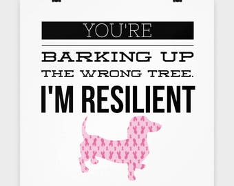 You're barking up the wrong tree (poster)