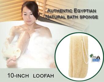 All Natural Loofah Bath Sponge With Rope | Shower Sponge | Loofah | Loofa | Luffa | Exfoliating Sponge | Best Body Scrub