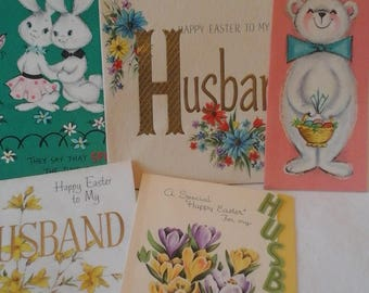 Vintage  to Husband  Easter  greeting  cards  #2