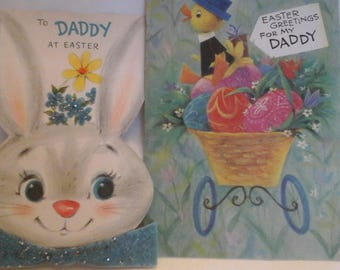 Vintage  Easter to Daddy greeting  cards