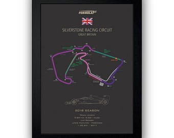 Formula 1 2018 Silverstone Wall Art - Digital Download