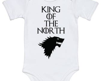 Game of Thrones Baby Onesie Game of thrones baby clothes Game of Thrones Baby Shower Gift Game Of Thrones Baby One Piece King of the North
