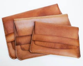 Vegetable-Tanned Leather Laptop Sleeve