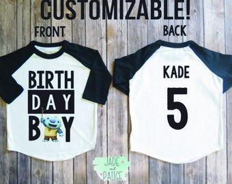 Wallykazam shirt, Wallykazam birthday shirt, Personalized birthday boy raglan shirt, birthday boy, boy first birthday, Wallykazam party