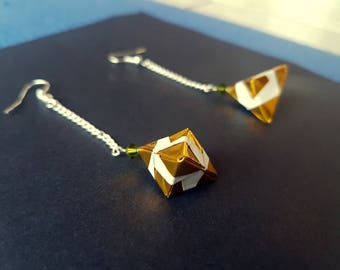 Origami inspired Christmas earrings