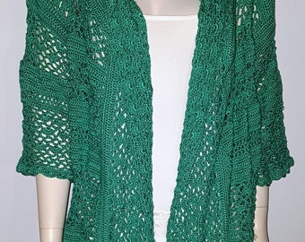 Jacket, handmade, green, unique