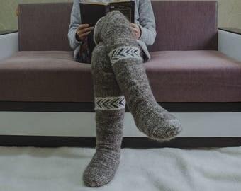 Men's stockings of natural sheep wool