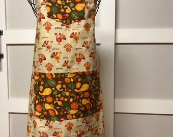 Turkey reversible apron