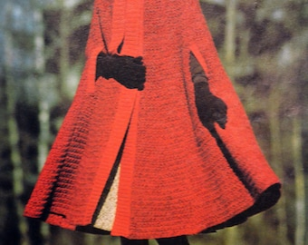 Tutorial red cape for Lady (Vintage)