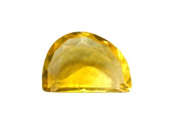 Fluorite Natural Beautiful Yellow Fluorite Both Side Faceted Polki 4.70 cts 9x13 mm For Designer Jewelry 3967