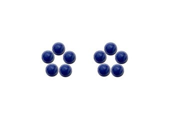 Blue Sapphire Round Rose Cut Faceted Cabochons 3x3, 4x4, 5x5, 6x6 mm 100% Natural/Non-Heated/Non-Treated Gemstones For Designer Jewelry