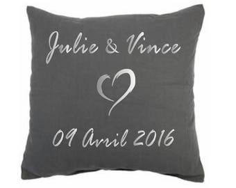 """personalized pillow """"wedding gift"""""""