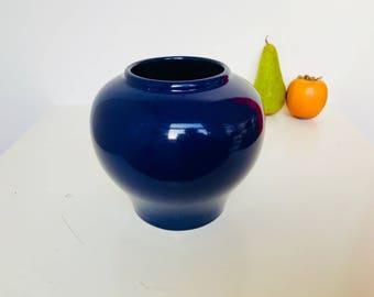 Beautiful Deep Blue Mid-Century West-Germany Vase Model 1023