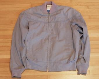 """Vintage """"Northwoods"""" Indigo Bomber Coat / Pilot Jacket / Size 44 / Jacket"""