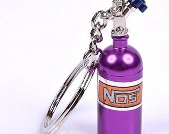 Purple Nitrous Bottle Keychain
