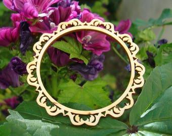 round frame 1756 creations wooden 20 cm diam.
