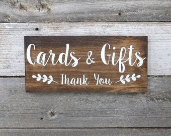 Cards & Gifts Wedding Decor Sign