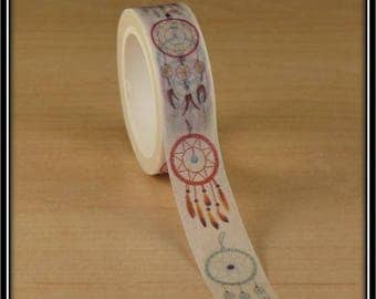 masking tape dream catcher on a white 15mm x 10 m