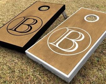 Custom Monogram Wedding Cornhole Boards