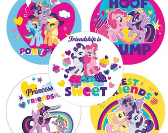 "25 My Little Pony Pals Stickers, 2.5"" x 2.5"" Each"
