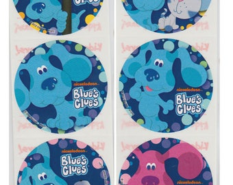 "25 Blue's Clues Stickers, 2.5"" x 2.5"""