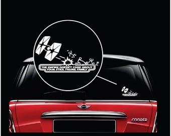 Star Wars The Empire doesn't care about your stick figure family window decal sticker