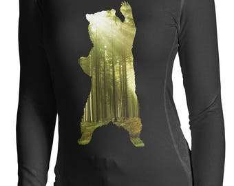 Bear Shirt Graphic Long Sleeve By Artisan Tees bear t-shirt  Bear shirt  Graphic Tee Long Sleeve Shirt S - 2XL