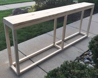 Long console table narrow console table long entryway for Long console table behind couch