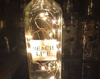 Beach Life Bottle Lamp