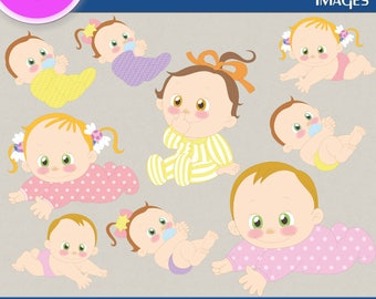 LITTLE BABY clipart png images, Digital Cliparts, Graphic, Stickers, Png file, Transparent Backgrounds, digital print, printable images