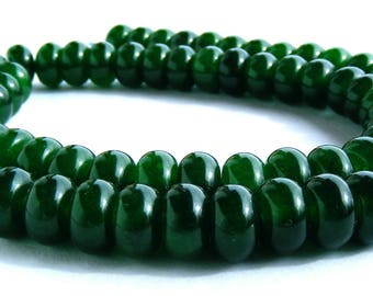 8 émeraudes Abacus de 8x5 mm perles pierre verte.