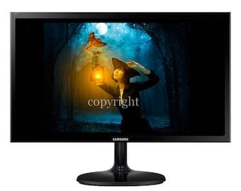 La veilleuse fond d'écran pour ipod ou ordinateur création unique sur le thème féerique.
