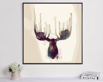 Elk painting/ Elk art / Paint By Number kit/ elk art/ elk print/ elk painting/ animal art/ wildlife art/ elk decor/elk home decor/elk poster