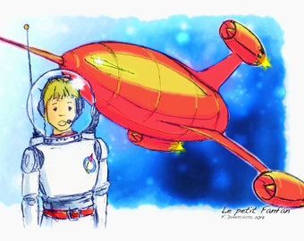 "Card ""The little astronaut Fanfan"" 10x15cm"