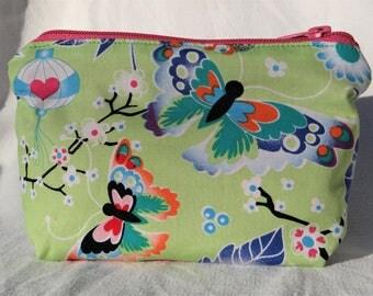 Jolie pochette/trousse tissu - Coton motifs japonais