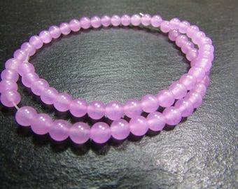 Set of 10 Jade 4 mm beads