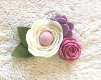 Felt floral headband